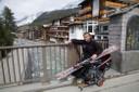 with my material in Zermatt